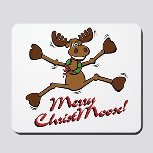 Merry Christmoose [jumping] Mousepad